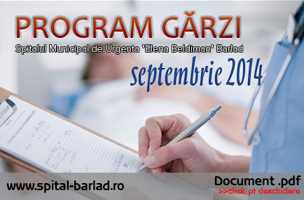 GRAFIC GARZI SEPTEMBRIE 2014